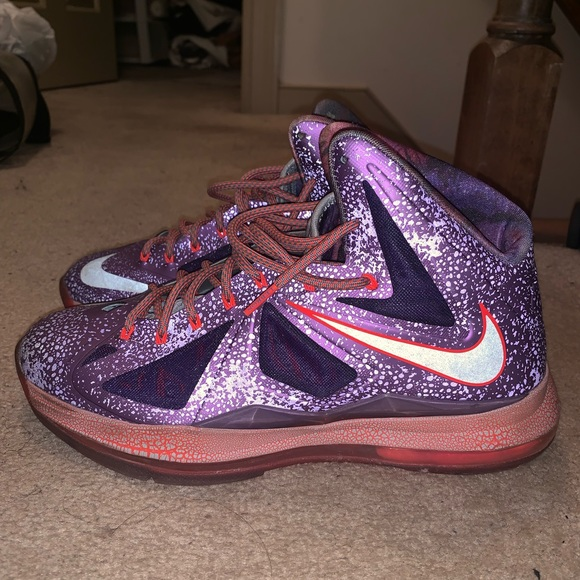 AIR LEBRON JAMES X 10 EXT ALL START AREA 72 PURPLE SNEAKER SHOES KEY CHAIN RING
